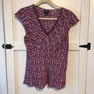 Style &Co sheer cap sleeve blouse Size 12
